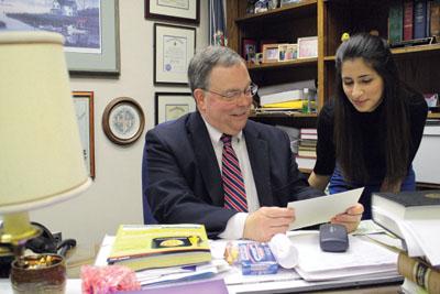 Salehi works in court for mentorship