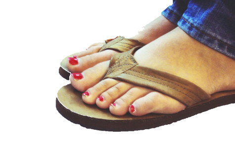Rainbows are among the most popular flip flop styles.