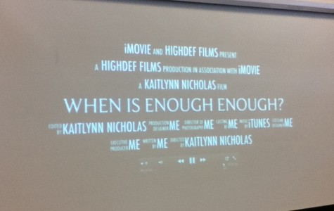 Creative Writing class participates in iPad movie trailer project