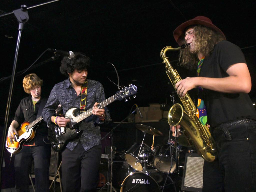 'The Walls of Teal' had a jazz-influenced set. Photo courtesy of Bob Adamek