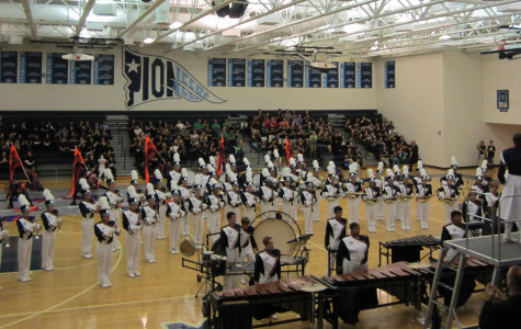 Marching band places first despite weather set back