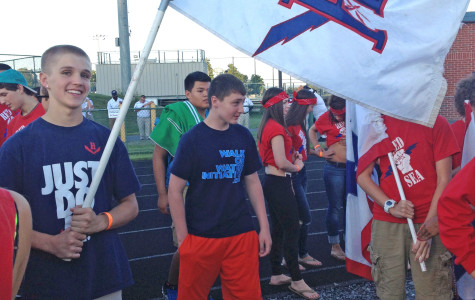 The Red Sea gathered for HHS's first home game to welcome the players onto the field.