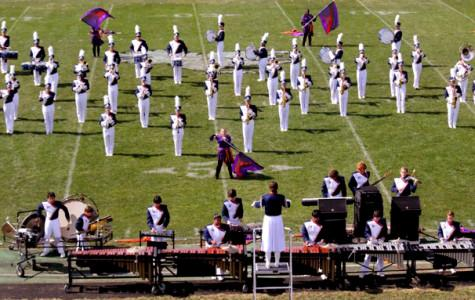 Drum Major Ellen Upton leads band to 2nd place finish