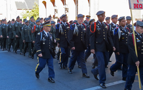 JROTC and Band march in support of nation's veterans