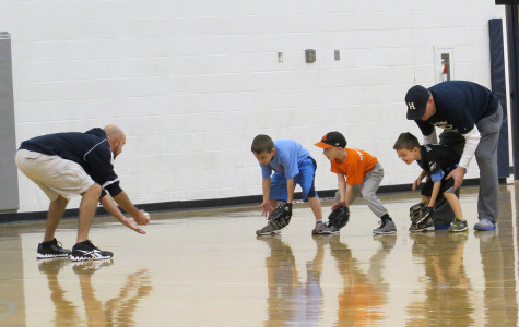 The benefit of the gymnasium allows baseball practice even in Winter.