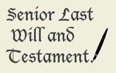 SENIORS: Fill out your last will and testament