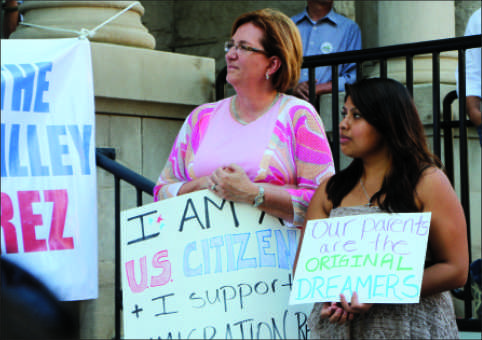 Junior campaigns for immigration reform with DAVA