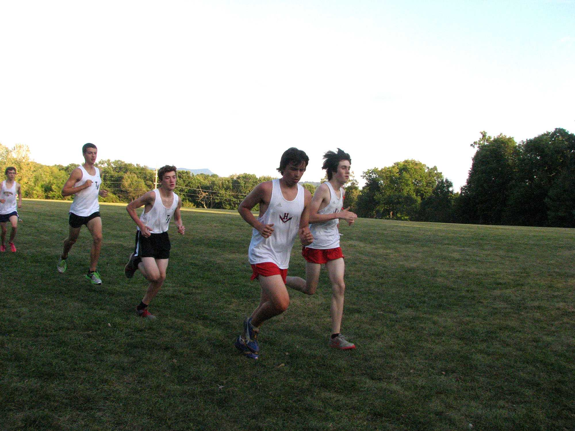 The HHS cross country team during their season.