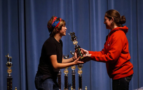 Ametsreiter accepts his award.