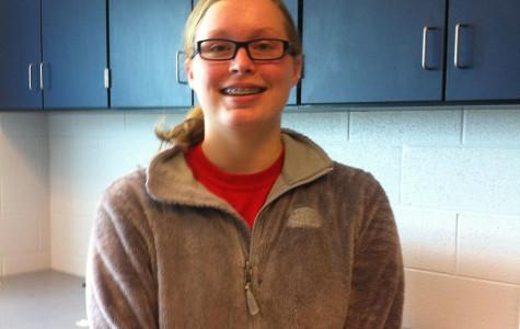 Freshman Nicole Raab.