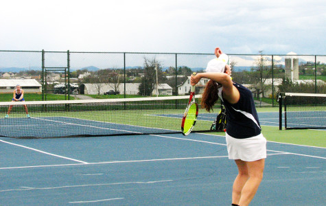 Home girl's tennis match vs. Spotswood