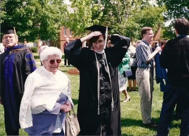 Mrs. Walton on her graduation day.