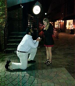 Turner proposes to his girlfriend