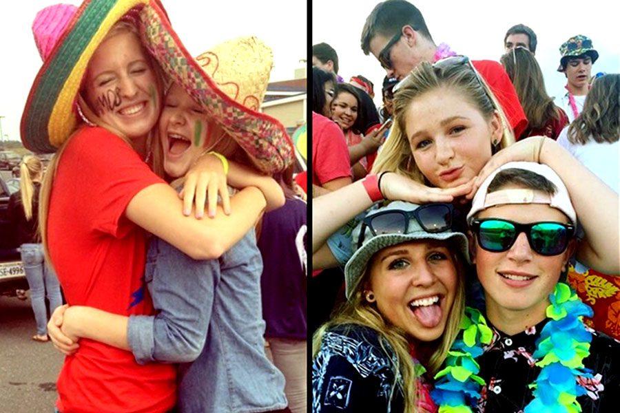 Hissong+at+the+Red+Sea+tailgate+freshman+year+vs+senior+year.