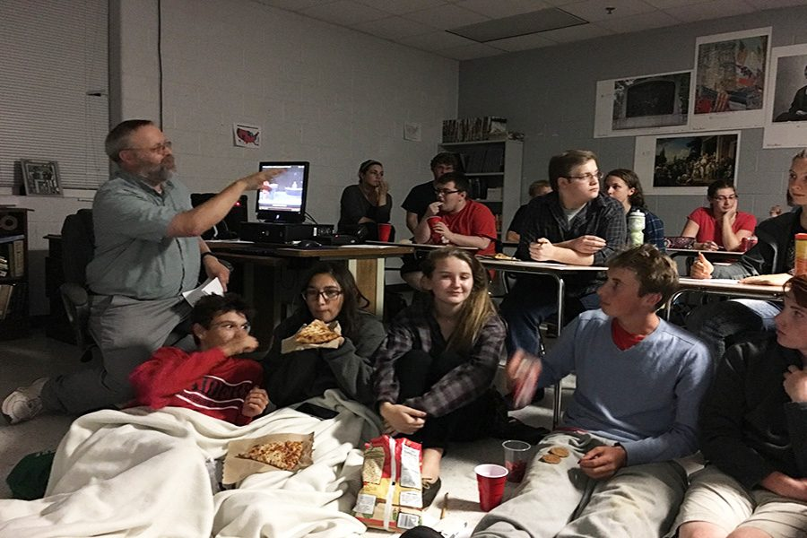 The AP government class sits and watches the debate