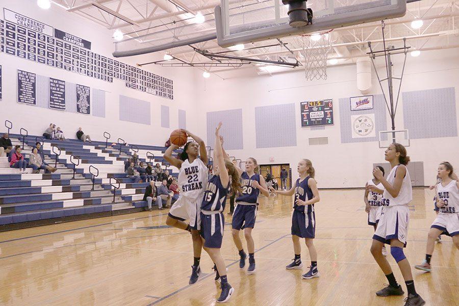 Desia Buckner goes up for a shot.