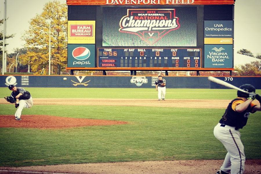UVA+plays+at+Davenport+field