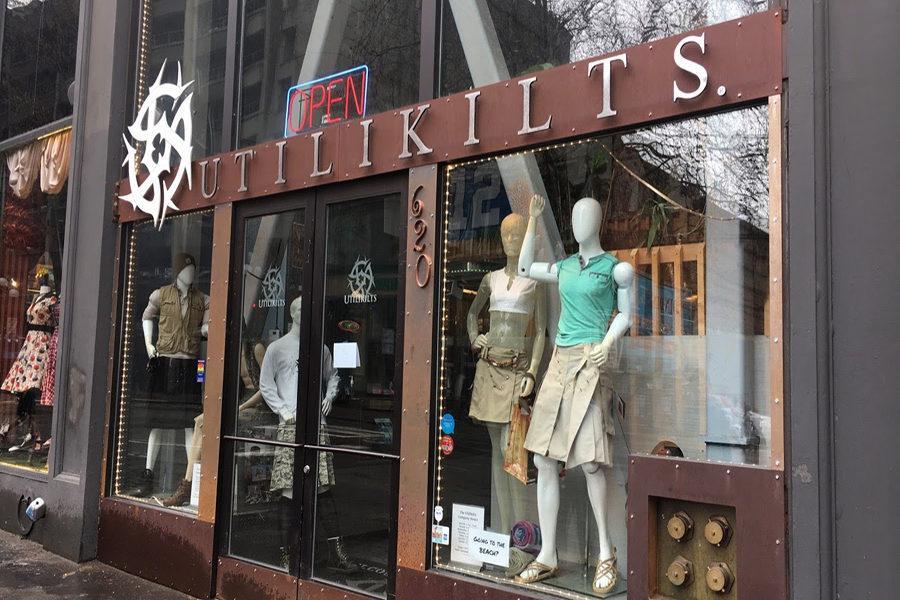 The Utilikilts store in Seattle, Washington