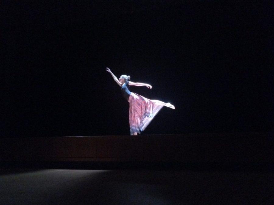 Sophomore Claudia Obenschain performs her dance