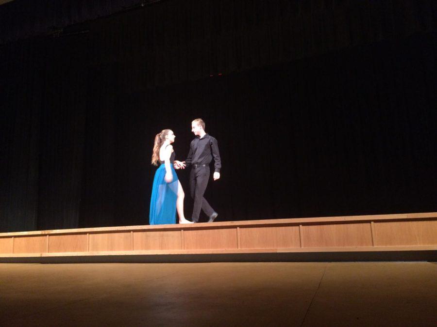 Sophomore Kate Cummings performs her dance