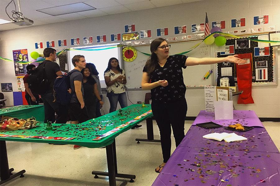 French teacher Sally Young educates students about Creole culture.