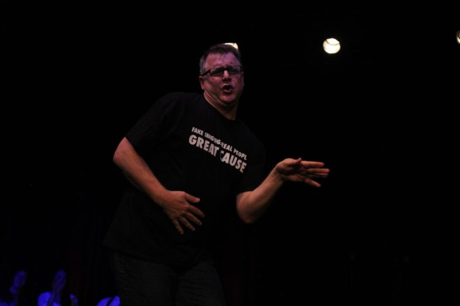 Alan Quimby performs during the middle round of the Lip Sync Battle. Quimby ended in fifth place for the battle.