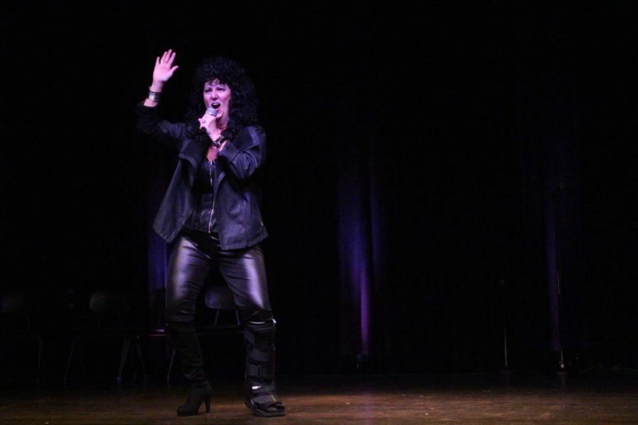 Tamra Atkins performing