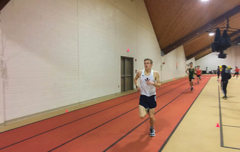 Indoor track team competes in meet at Woodberry Forest