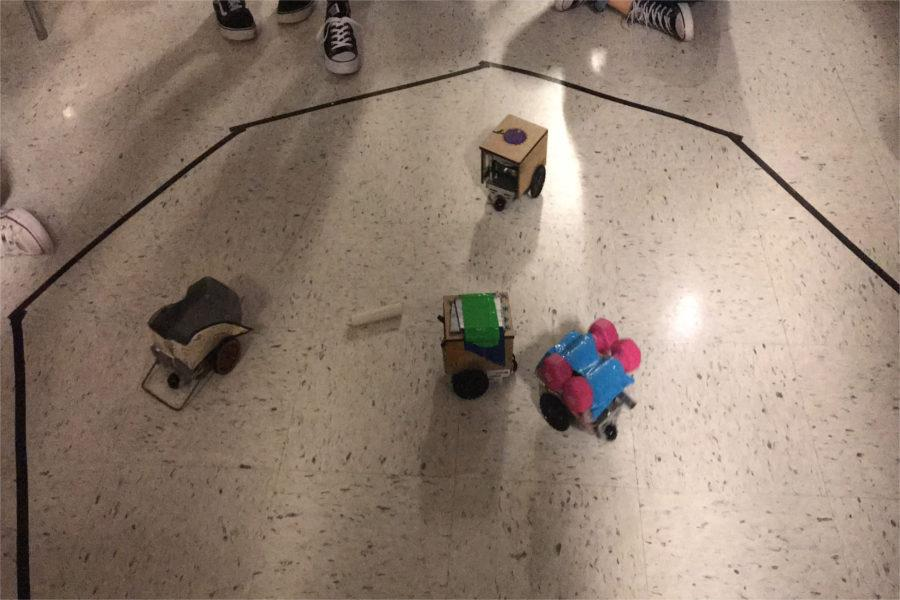 All four bots enter the ring after The Mistle-Boes win the tournament