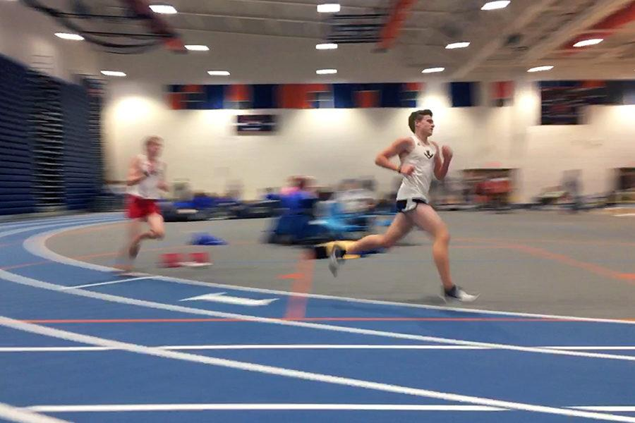 Sophomore+Tucker+McGrath+competes+in+the+3200m%2C+closely+followed+by+senior+Jacob+Blagg.