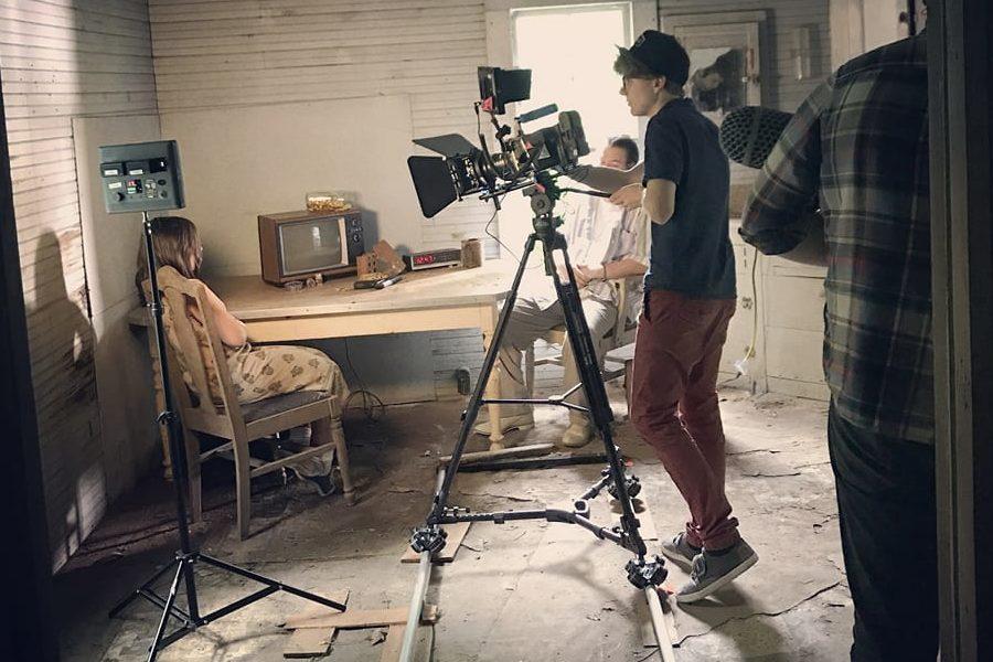 Coffey works on a film for the Sundance Film Festival.