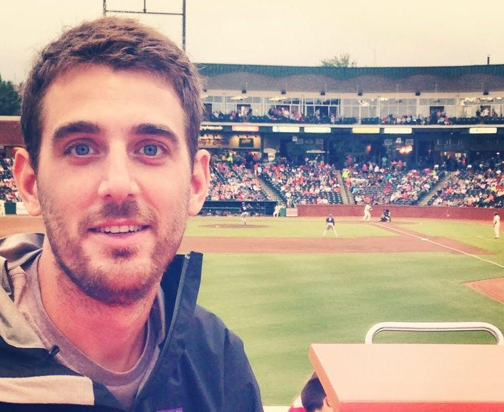 Harrisonburg graduate Ross Garrison attends a baseball game.