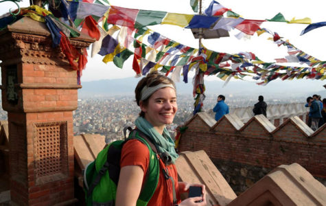 Vanessa Ehrenpreis stands above Tibet, a region in China. On this trip, Ehrenpreis was studying abroad for a semester in Nepal researching biodiversity and community forest management. She was also able to conduct research on Tibetan tigers while attending the University of Virginia. studying Environmental Sciences.