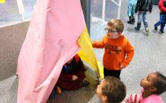 STEM students take prototypes to Bluestone kindergarteners