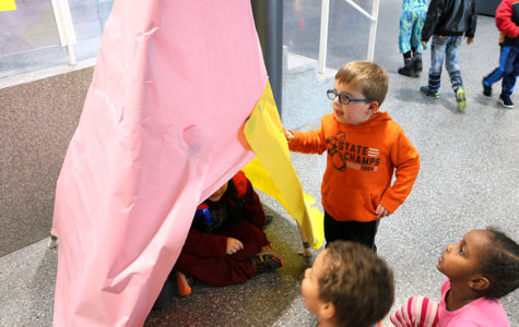 STEM students take prototypes to Bluestone kindergarteners