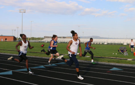 Track team celebrates seniors at JV meet