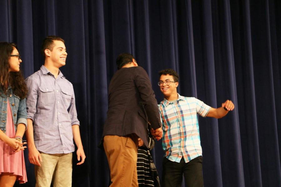 Senior Guillermo Torres is recognized for receiving a Scholars Latino Initiative Scholarship, as he attends JMU this fall.