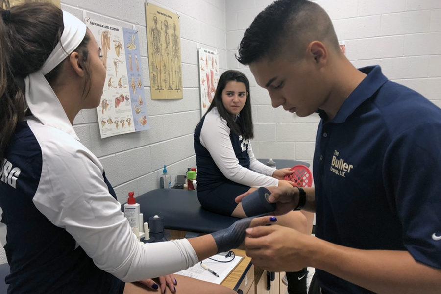 Cole Talton serves as athletic training intern