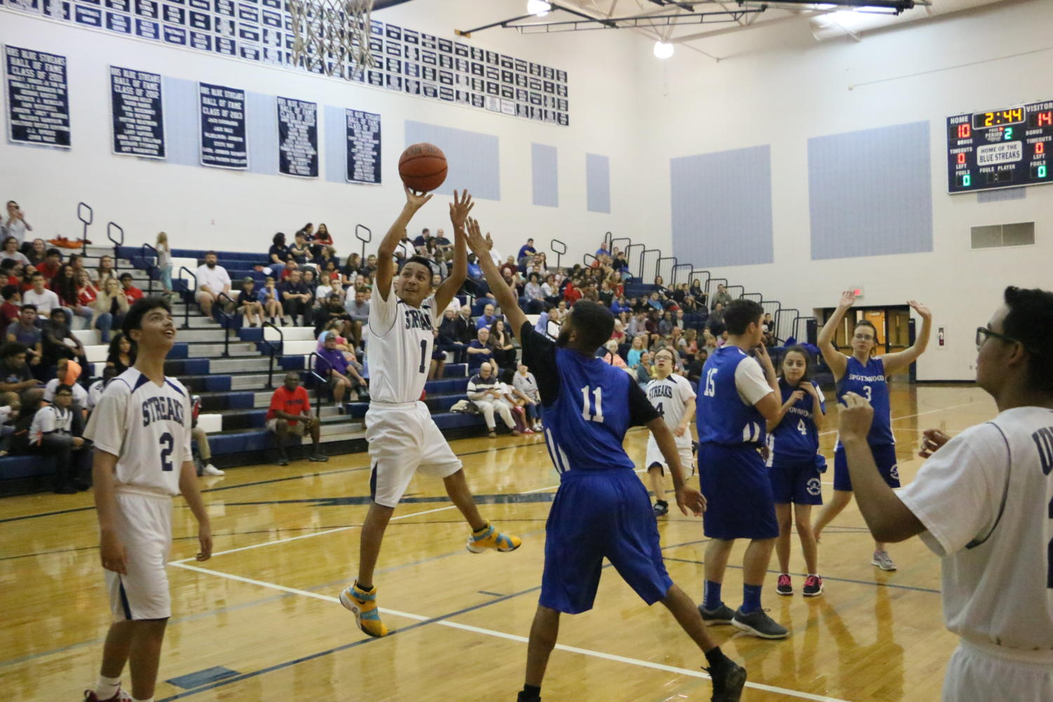 Harrisonburg puts up a shot against Spotswood. To see more photos from the game, check back in a few days.