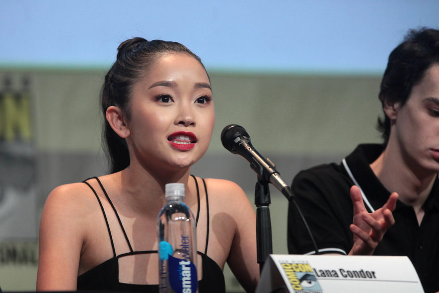 Lana Condor plays the main character in the film, Lara Jean Covey, in her first lead movie role.