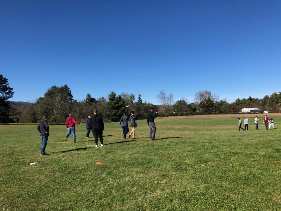 In between observation shifts and activities, students played games like football and frisbee soccer.