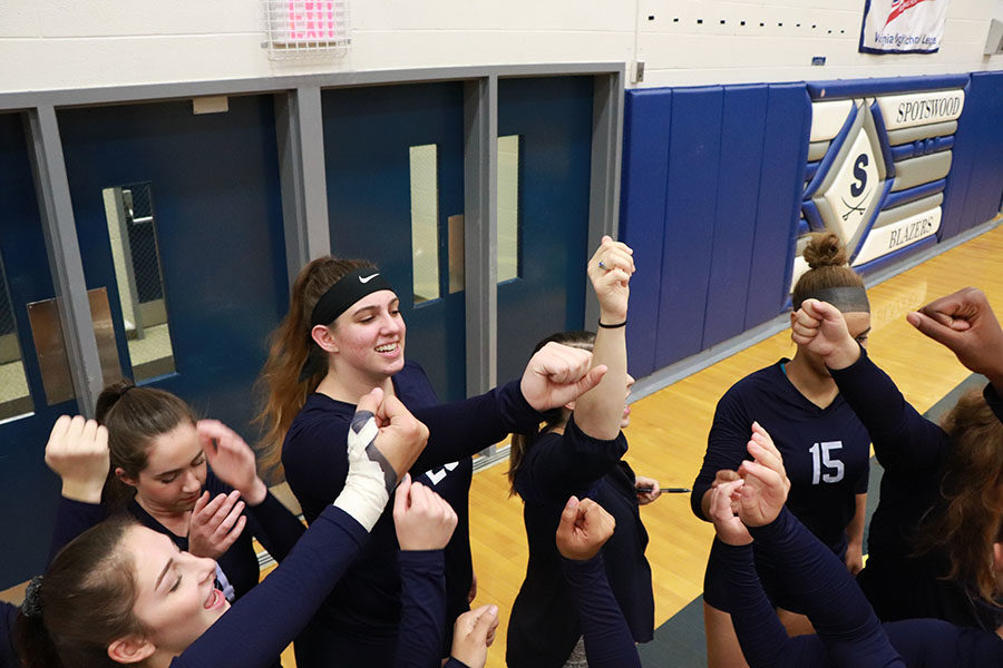 The Streaks cheer as they get ready to face the Blazers of Spotswood high school.