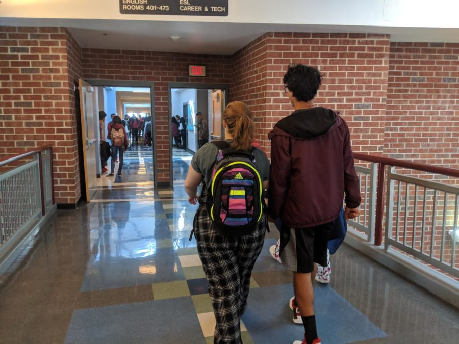 Junior+Ann+Diaz+wears+plaid+pajama+pants+for+pajama+day.