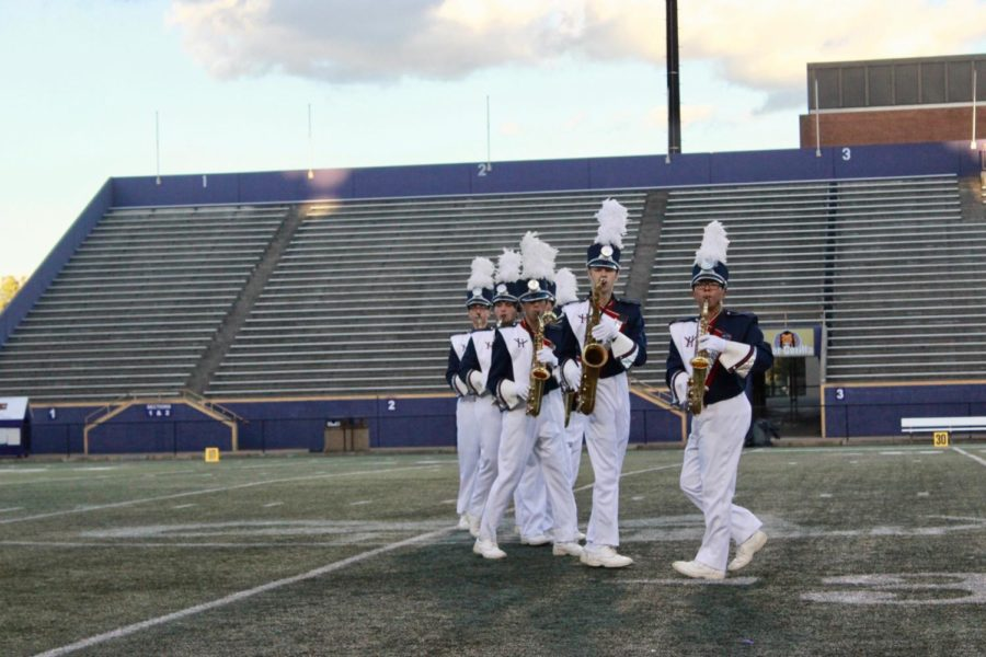 The Saxophone section plays during movement two of their show.