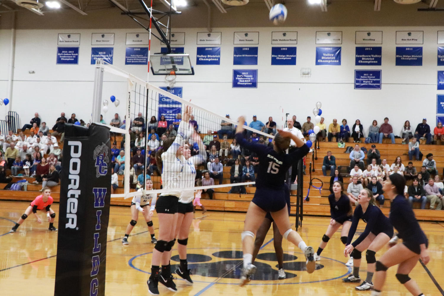 Junior+outside+hitter+Jakaya+Brandon+jumps+to+hit+the+ball+during+the+Streaks%27+first+set+loss+to+the+Wildcats.+