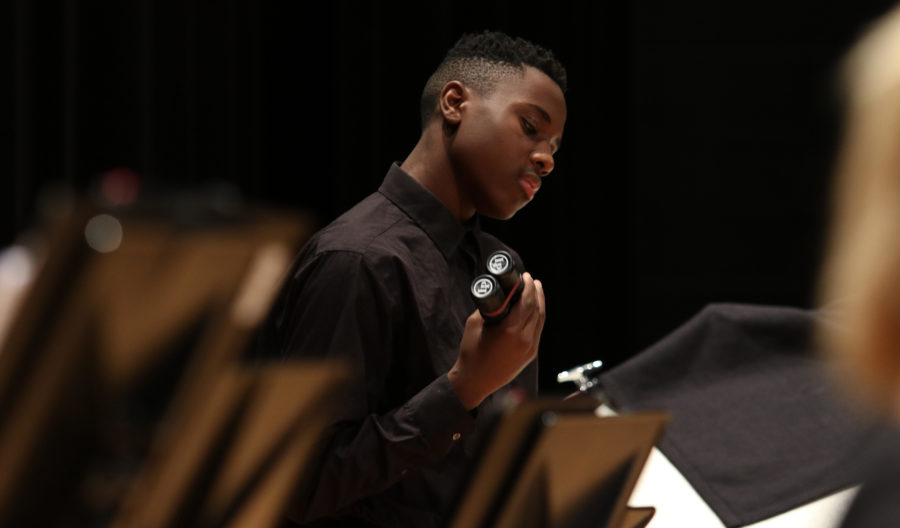HHS Percussion and String programs performs in holiday concert