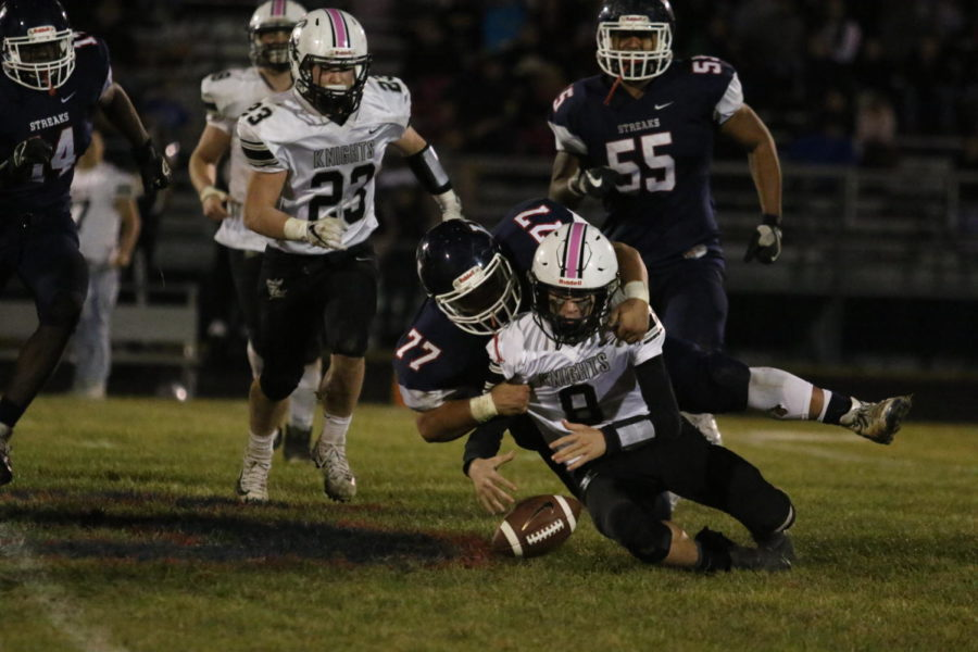 Senior Tank Anderson forces a Turner Ashby fumble on a tackle.