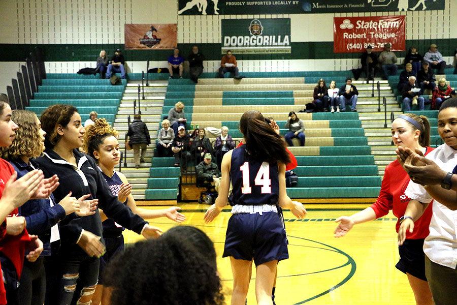 Freshman Mariah Cain is introduced.