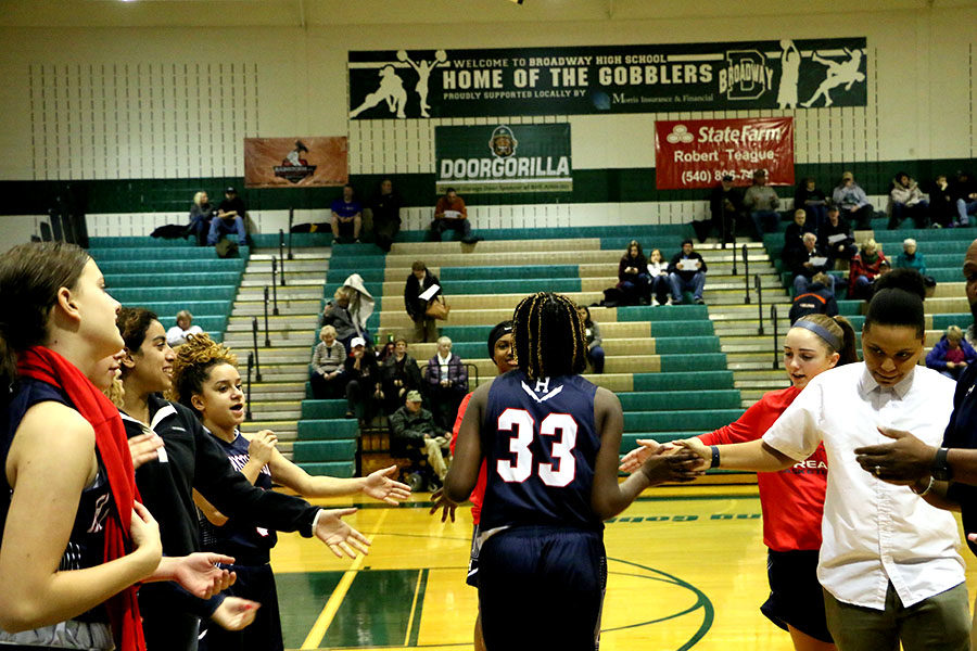 Junior Atilia Thomas is introduced at the start of the game.