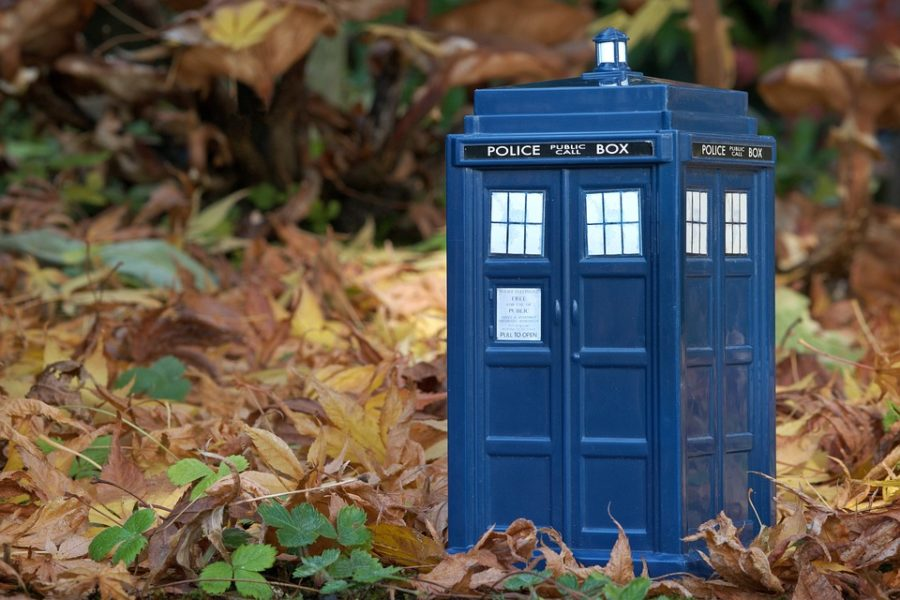 The blue police box, iconic to the show, is a time machine.